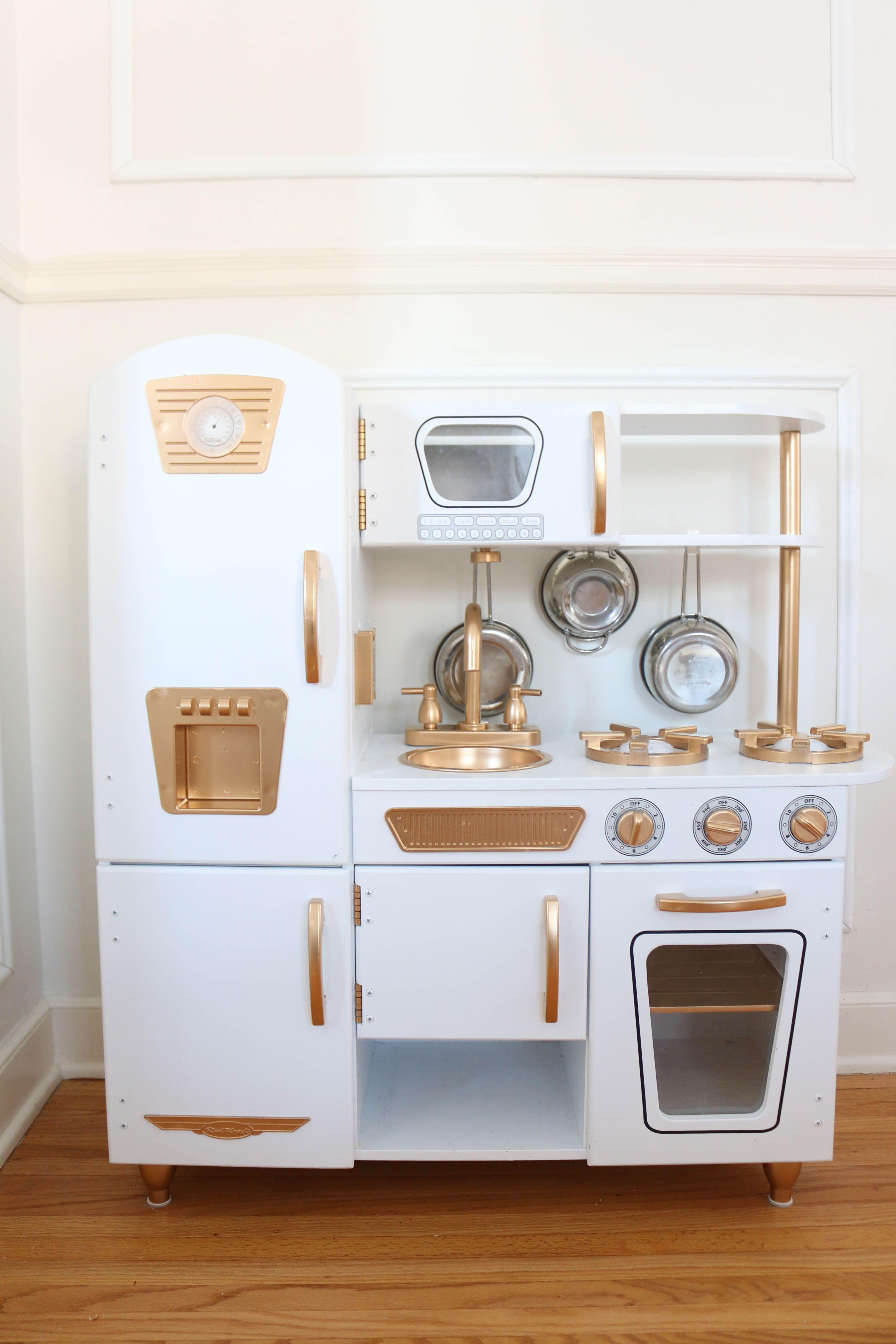 DIY Gold And White Kitchen   A Darling Daydream. Kidkraft Vintage ...