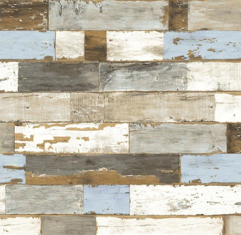 Reclaimed Driftwood Shiplap Wallpaper Distressed Chippy Paint Peel Stick Weathered Barnwood A 19 Peel And Stick Shiplap Peelable Wallpaper Wood Wallpaper