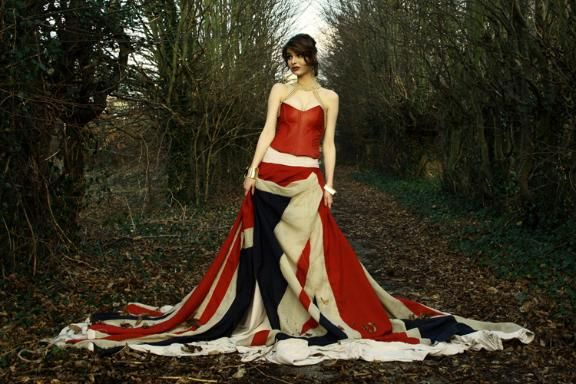 Union Jack ball gown by James Gulliver | Union Flag in Jubilee and ...