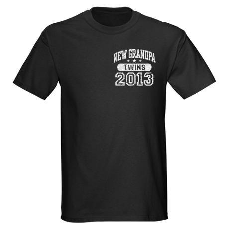 New Grandpa 2013 Twins Dark T-Shirt