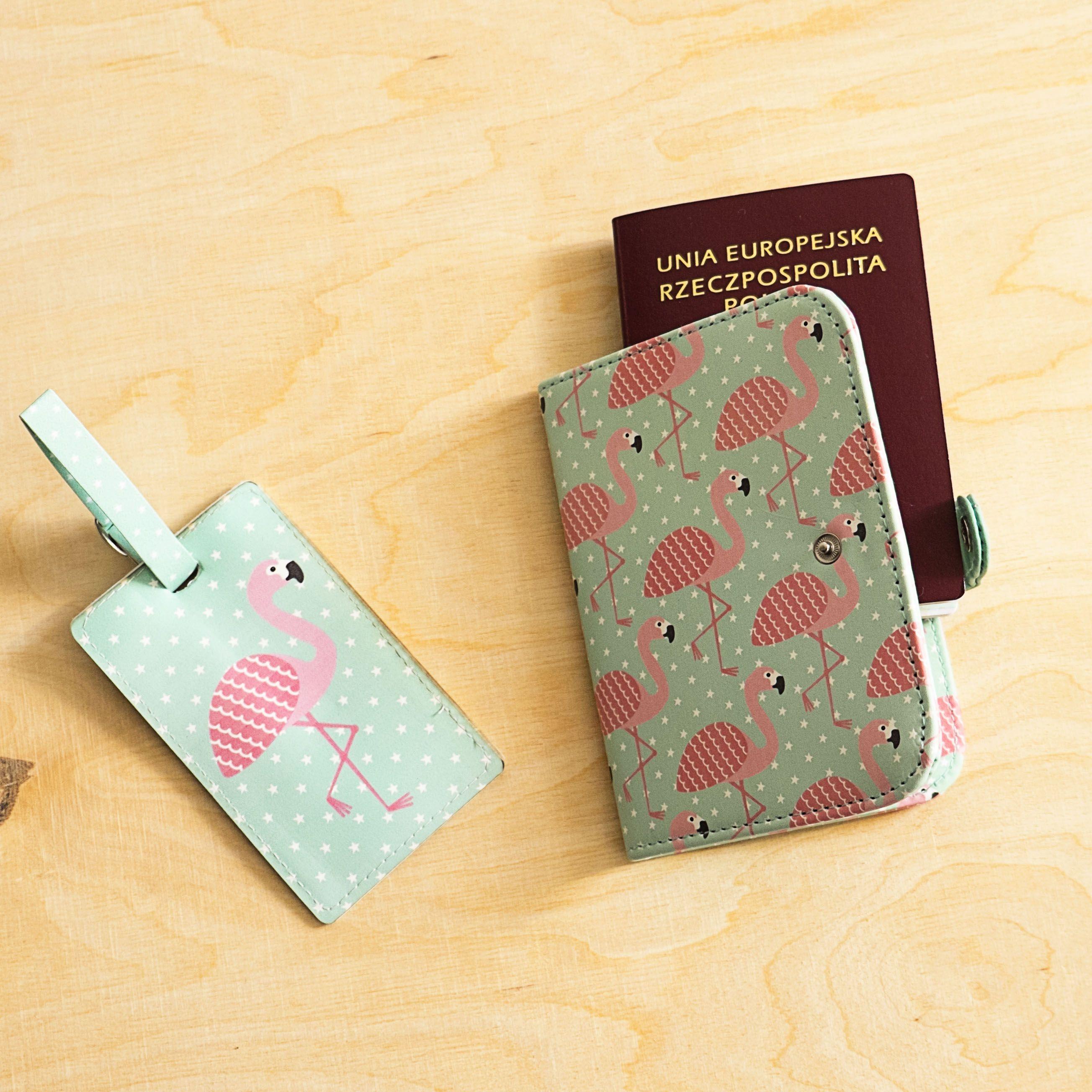 Etui Na Paszport Flamingo Paszport Bagaz Prezent