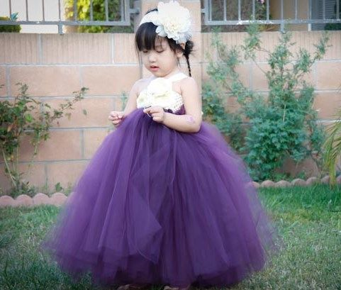 Plum with Ivory Flower Girl Tutu Dress and add a jacket or ...