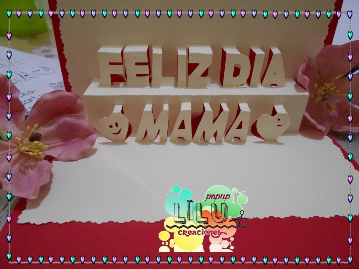 Tarjeta Pop Up 3d Dia De Las Madres Feliz Dia Mama Tarjeta De