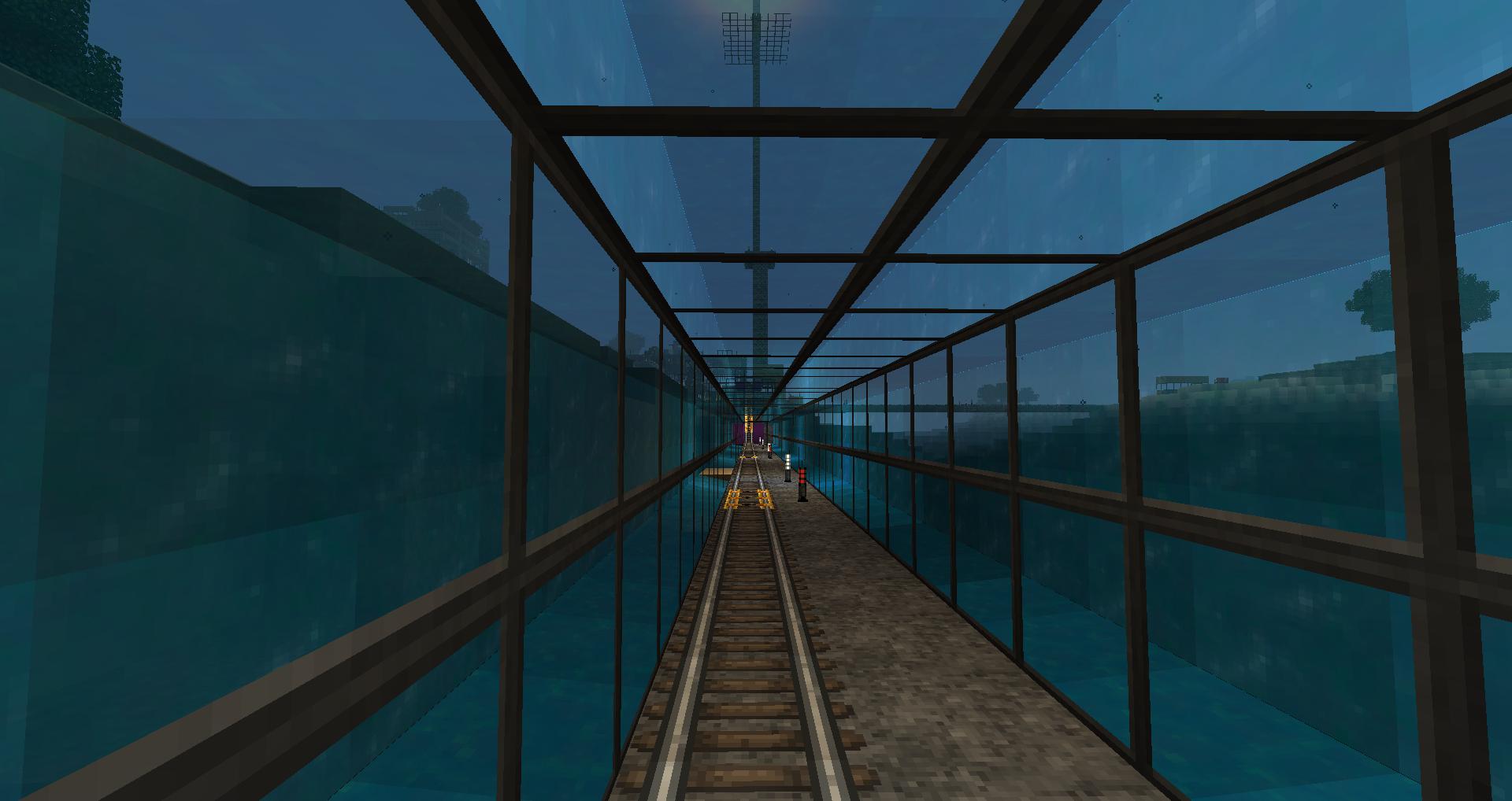 Minecraft Underwater Rail Tunnel Minecraftbuildings Games