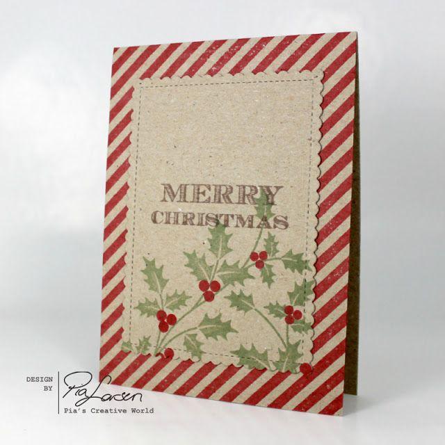 Pia\u0027s Creative World Christmas card on kraft card stock with