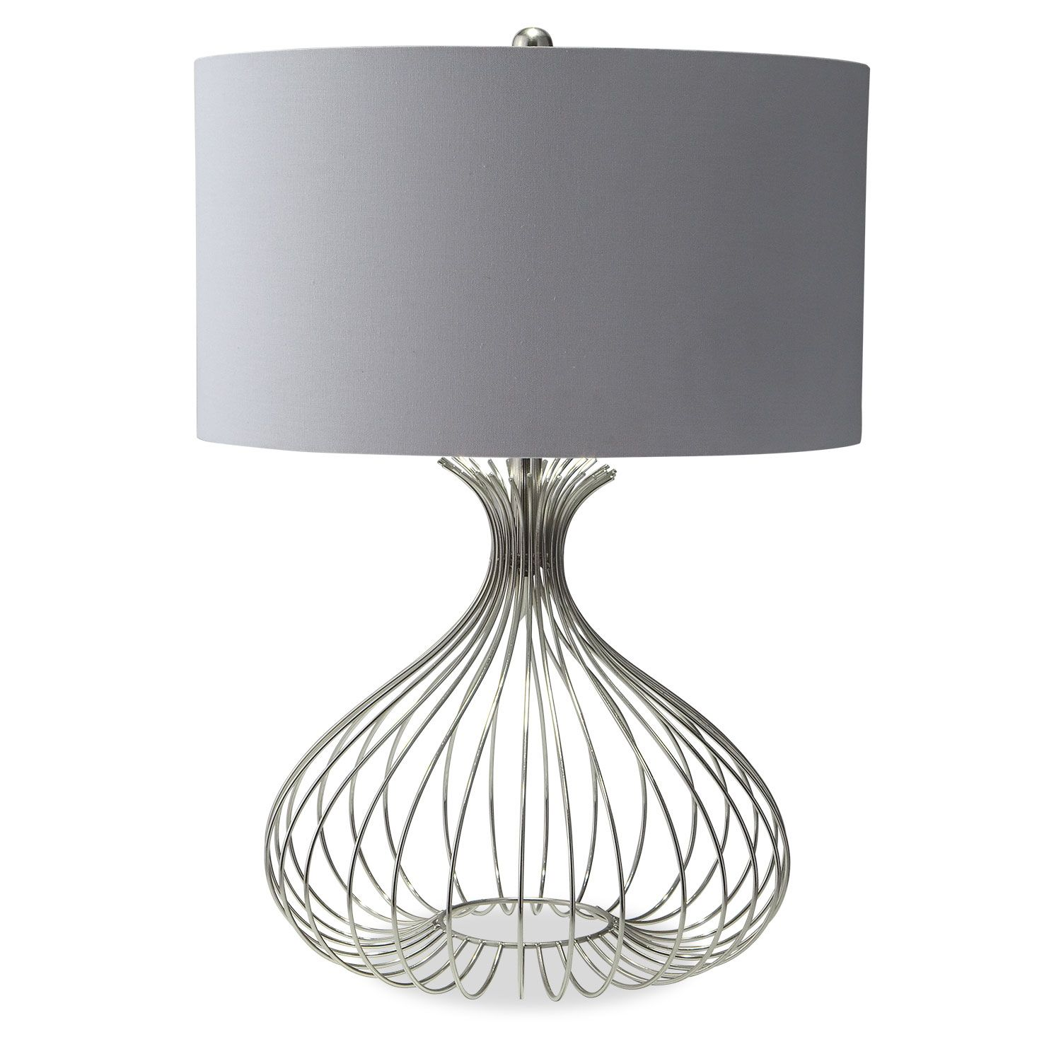 Nickel Wire Table Lamp Value City Furniture