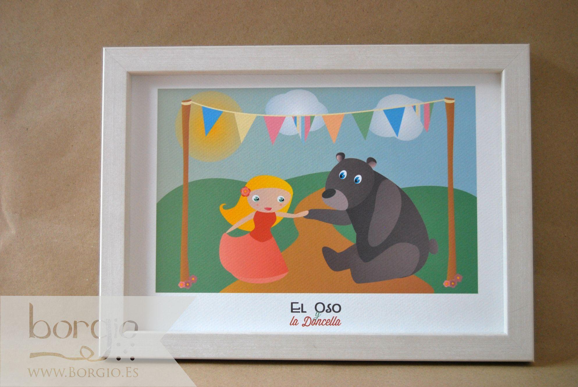 """El Oso y la Doncella, de la colección """"Westeros"""" Disponible en: http://www.borgio.es/laminas-infantiles/"""