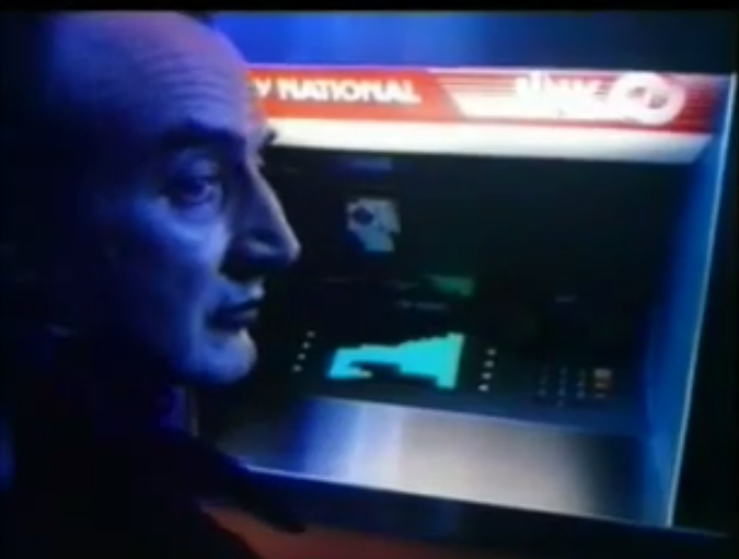 Count Dracula uses bank ATM (advert)