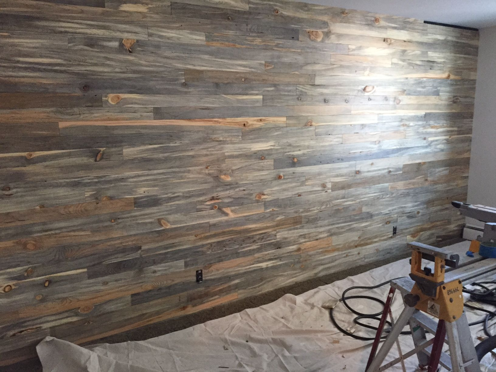 Using Pine Boards For Walls ~ Beetle kill pine wall paneling from sustainable lumber