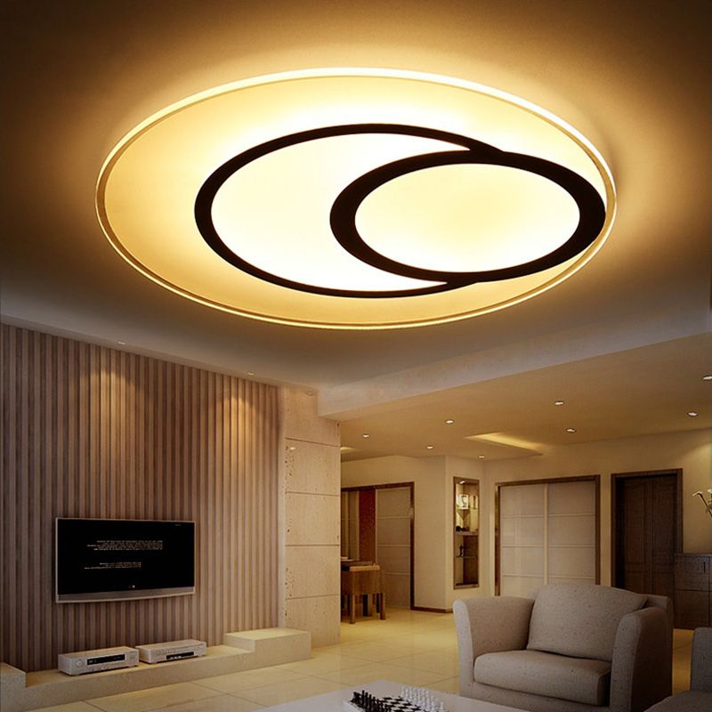 22 Cool Living Room Lighting Ideas And Ceiling Lights: Super-thin Round Ceiling Lights Indoor Lighting Led