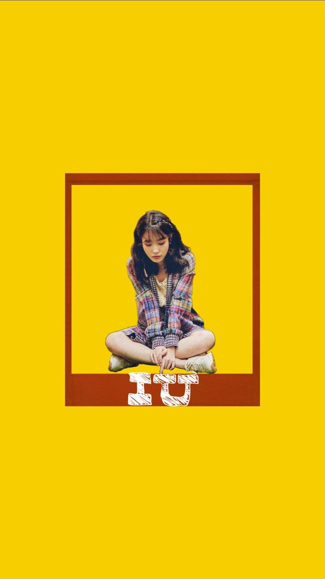Lee Ji Eun Iu In Yellow Yellow Aesthetic Orange Aesthetic Aesthetic Wallpapers