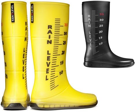 Have Your Boots Tell You How Much Rain There Is Www Wunderground Com Rain Boots Rubber Boots Boots