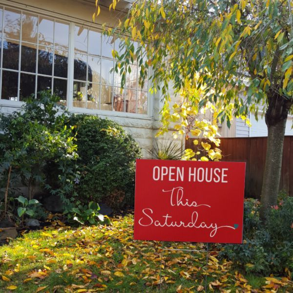 Open House This Saturday - Cursive Heart
