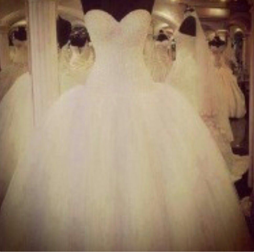 Fluffy wedding dresses  This dress is so gorg  Weddings  Pinterest  Weddings