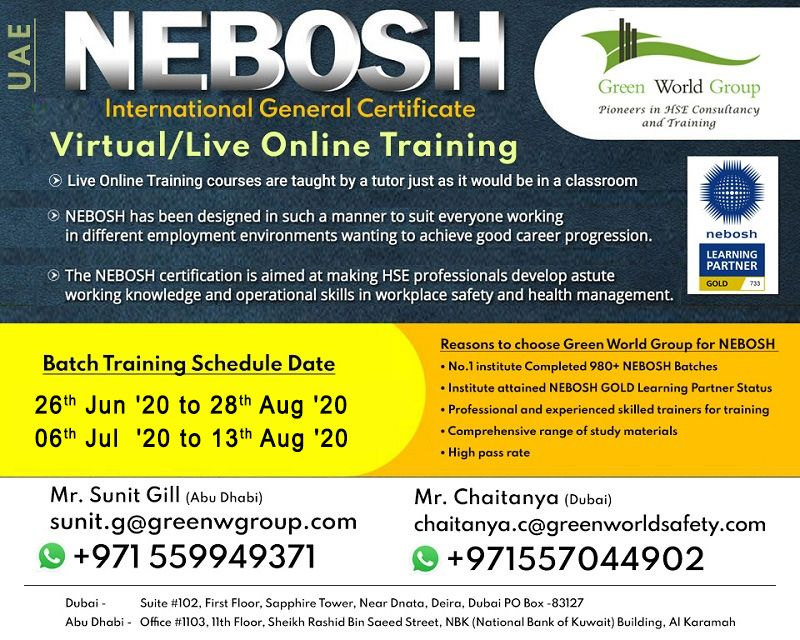 Register Nebosh IGC Live Training with GWG
