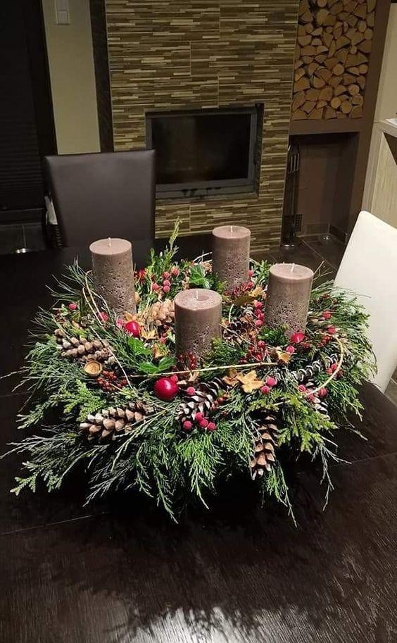 Advent wreath- Adventskranz Advent wreath -#christmasornamentsart #christmasorna…