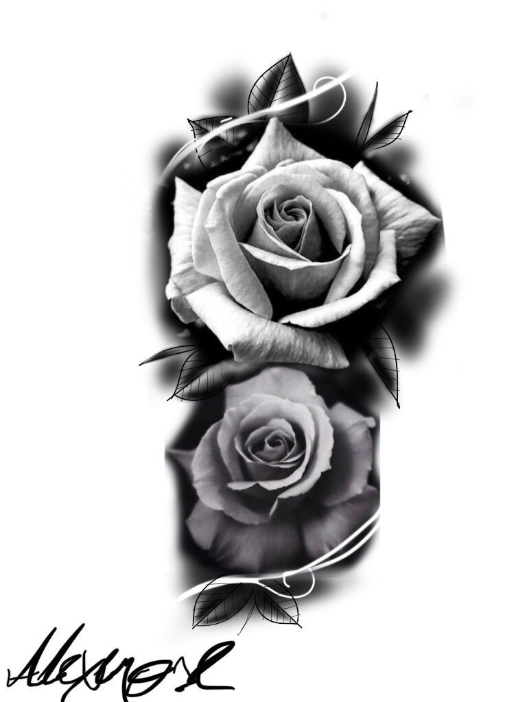 Pin by Brian Anderson on Drawings | Rose flower tattoos ...