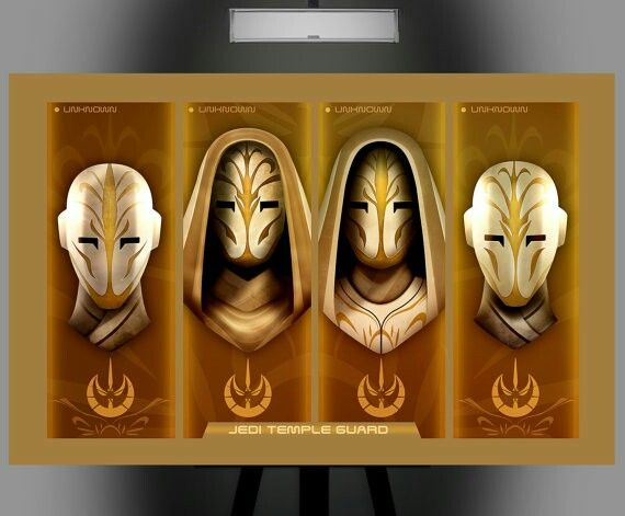 Jedi Temple Guardsmen mask variations | Star wars | Pinterest ...