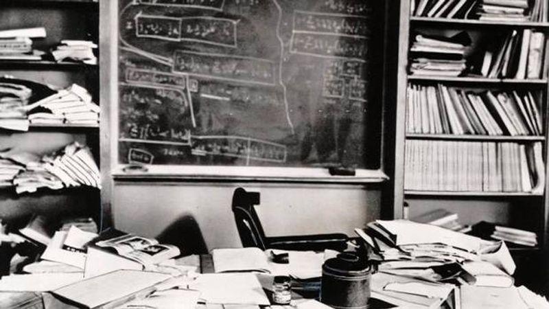 Escritório de Albert Einstein após sua morte