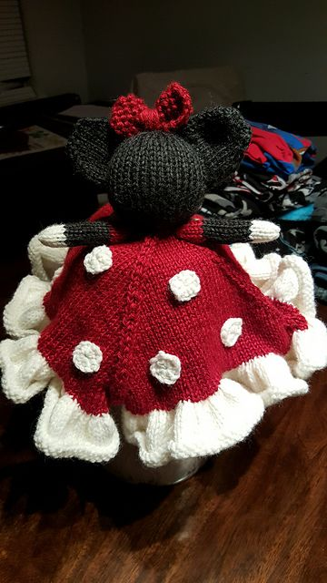 Tattoochick77s Minnie Mouse Lovey Minnie Mouse Knitting Videos