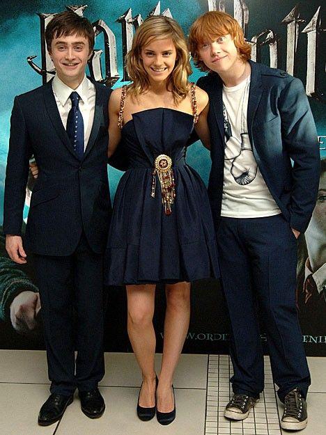 The Trio At The Prisoner Of Azkaban Premier Atores De Harry Potter Harry Potter Filme Produtos Do Harry Potter