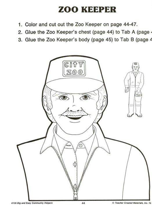Zoo Keeper 1 4 Zoo Keeper Zoo Male Sketch