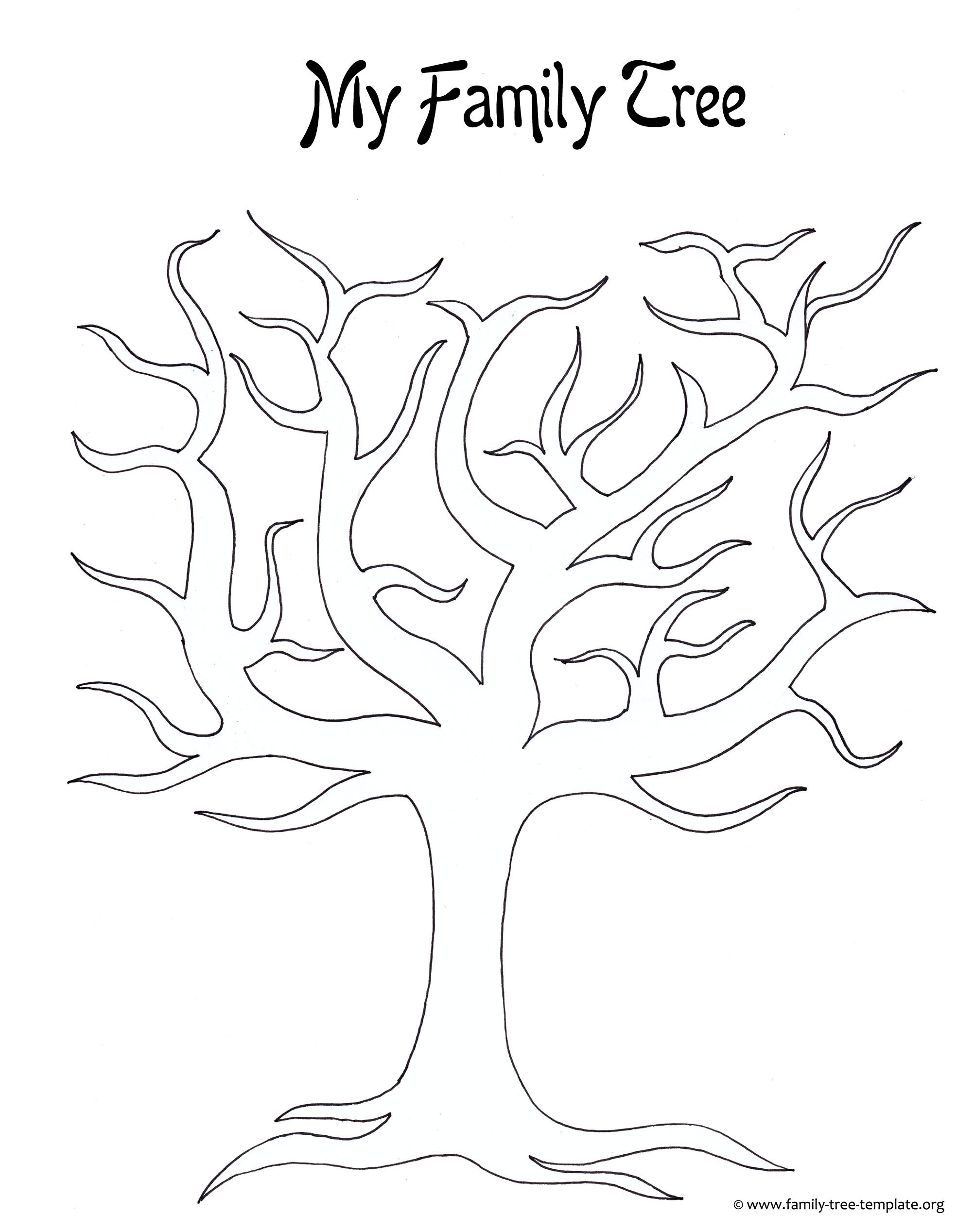 Best Photos Of Large Tree Template Large Blank Family Tree