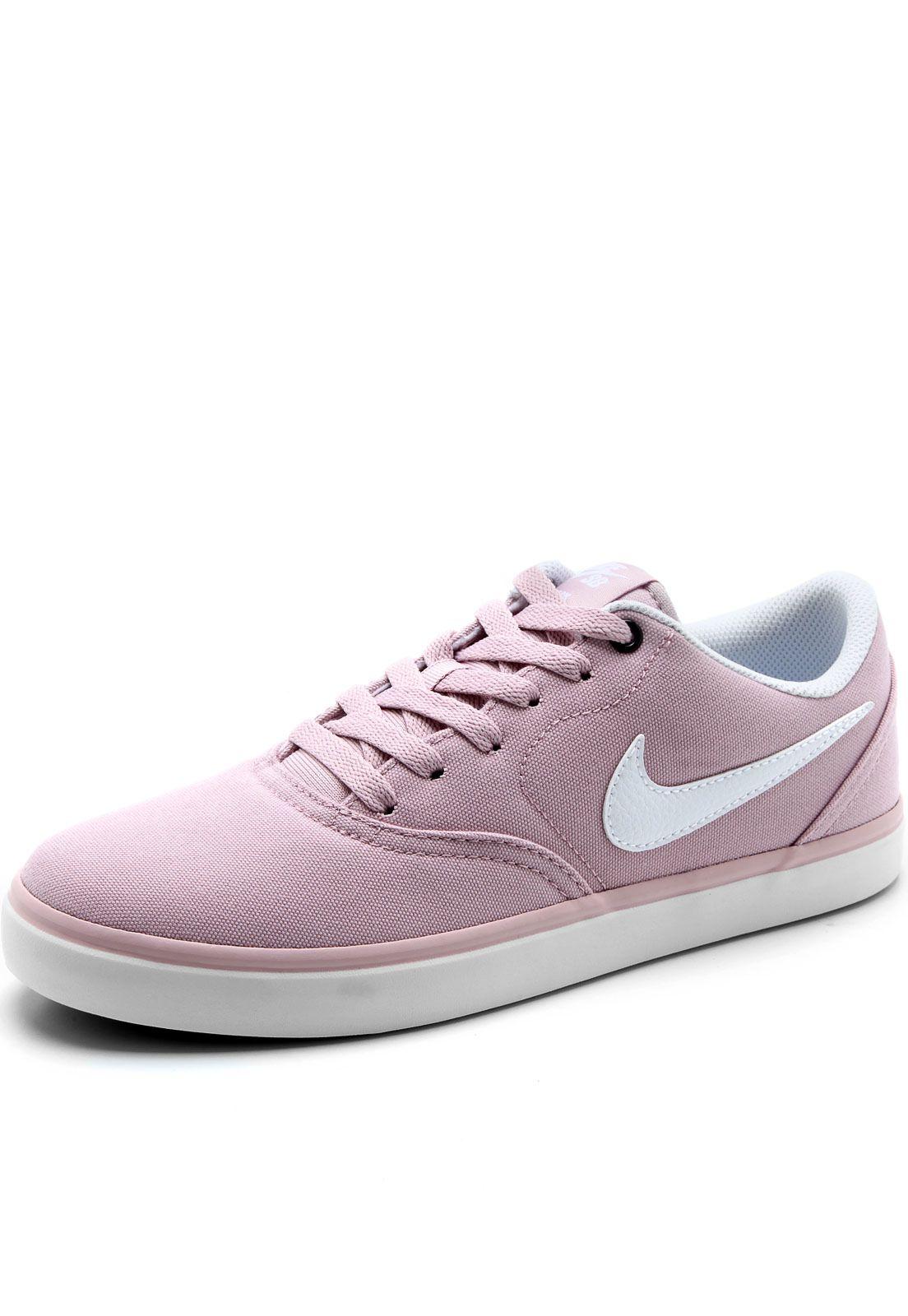 Tenis Nike Sb Check Solar C Rosa Branco Tenis Nike Nike Sb E Tenis Nike Sb Check