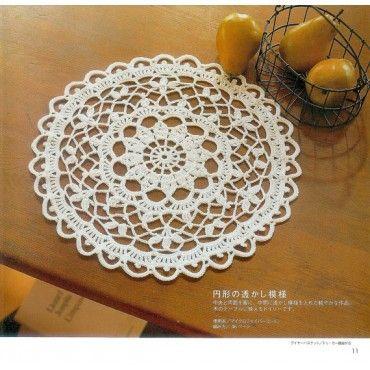 Japanese Craft Crochet Doily Doilies Patterns Book Crochet Rug
