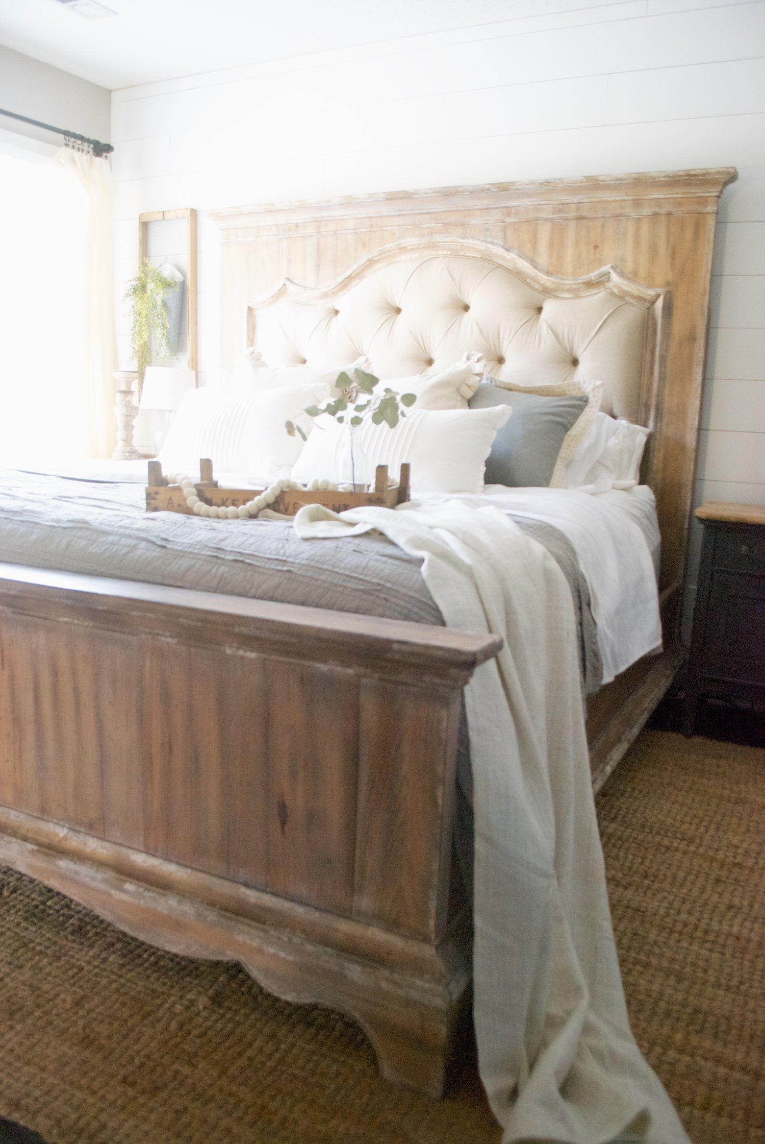 My French Country Farmhouse Style Bed by Hooker Furniture