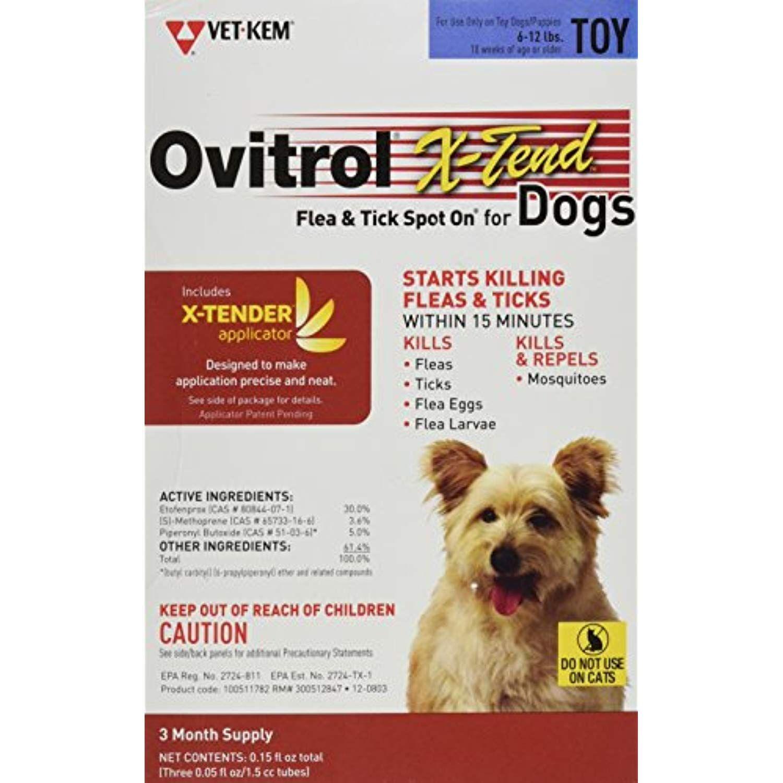 Ovitrol Vet Kem 3 Pack X Tend Pest Control Spot On For Dog Toy 6
