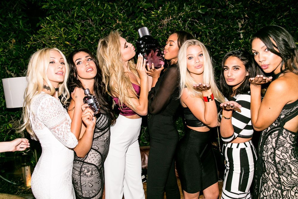 #GUESSgirls at the #GUESSDare Fragrance Party at Ysabel in West Hollywood