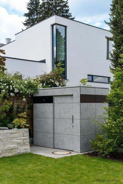 design gartenhaus _gart Sichtbetonoptik niemals