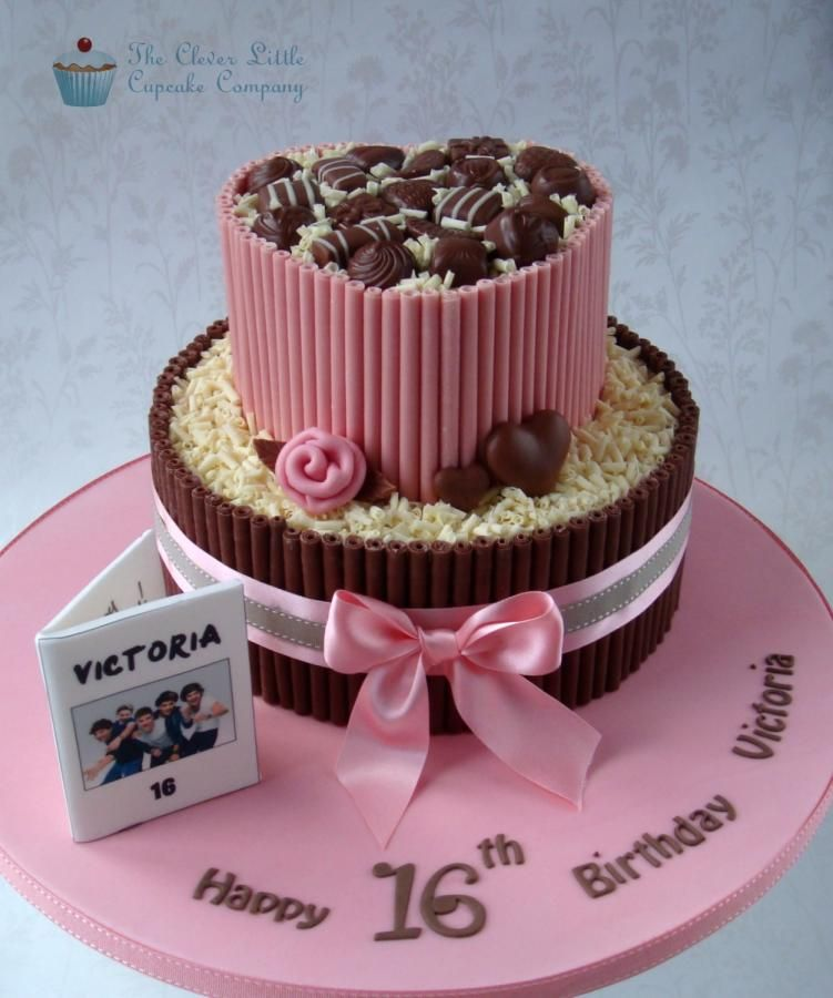 Chocolate Sweet 16 Cake