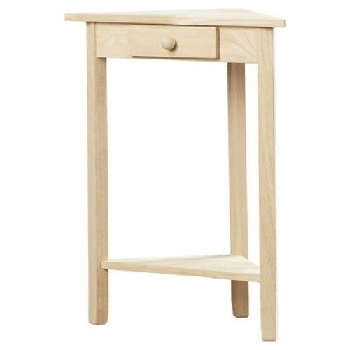 Small Side Table Triangle Corner Nightstand Wood End Wall Night Stand E Save Charltonhome Transitional