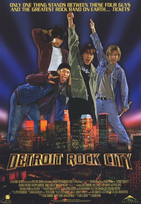 Detroit Rock City 11x17 Movie Poster 1999 Detroit Rock City Movie Posters Detroit