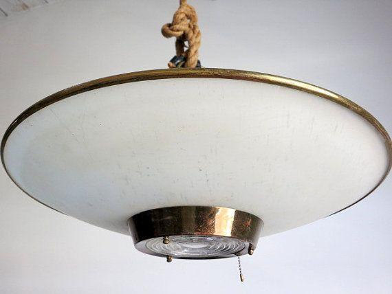 Mid century atomic saucer light fixture by eastonandbelt on etsy 365 00