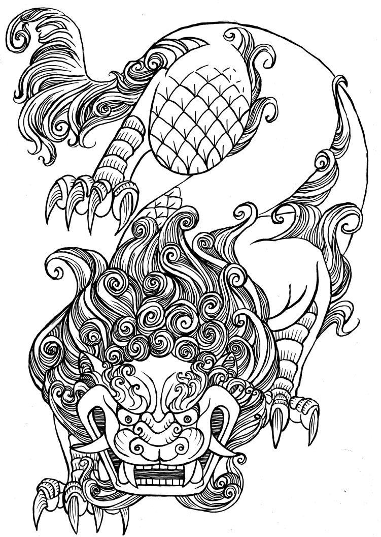 foo lion (1×1056)  coloring pages  pinterest  lions