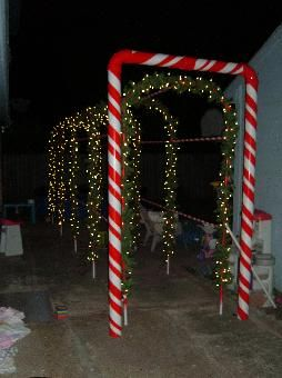 Lighted Candy Cane Arch Christmas Lock In Decorating