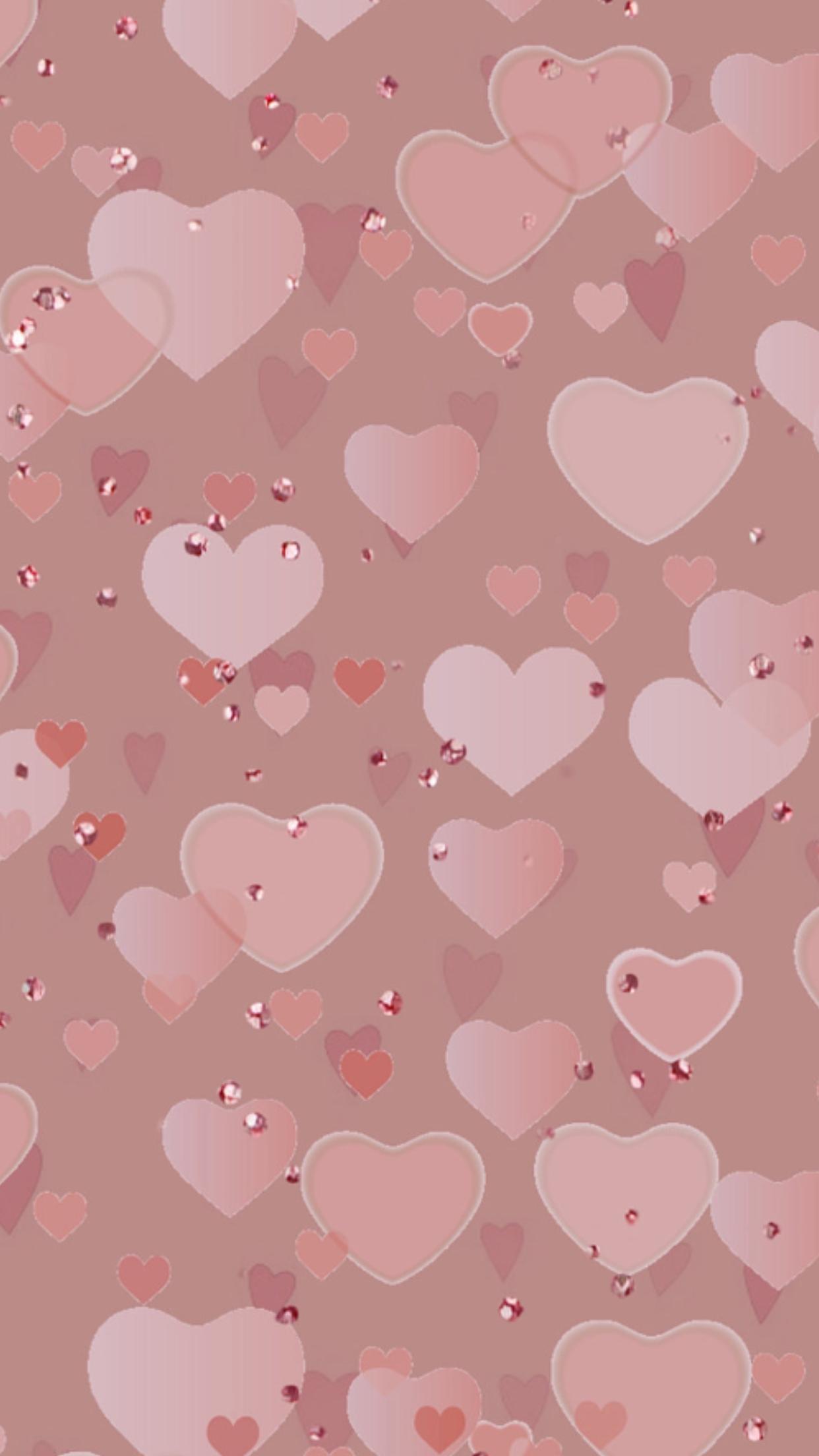 Pink heart wallpaper #GlitterFondos