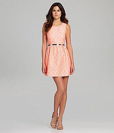 Gianni Bini Jen Belted Dress #Dillards @Carrie Grizzy | My Style ...