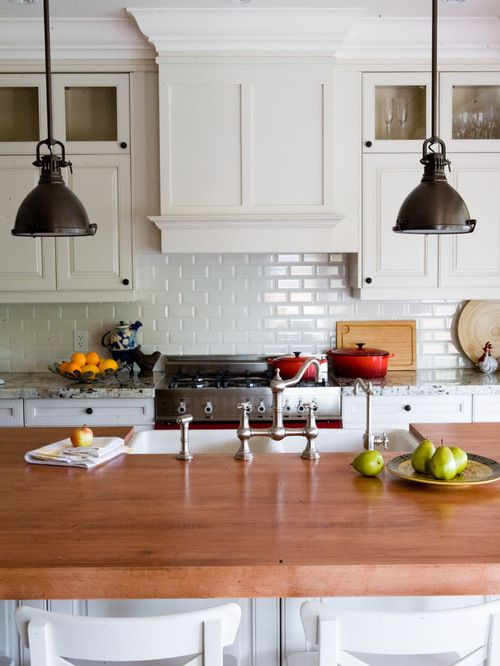 dress your kitchen in style with some white subway tiles. beautiful ideas. Home Design Ideas
