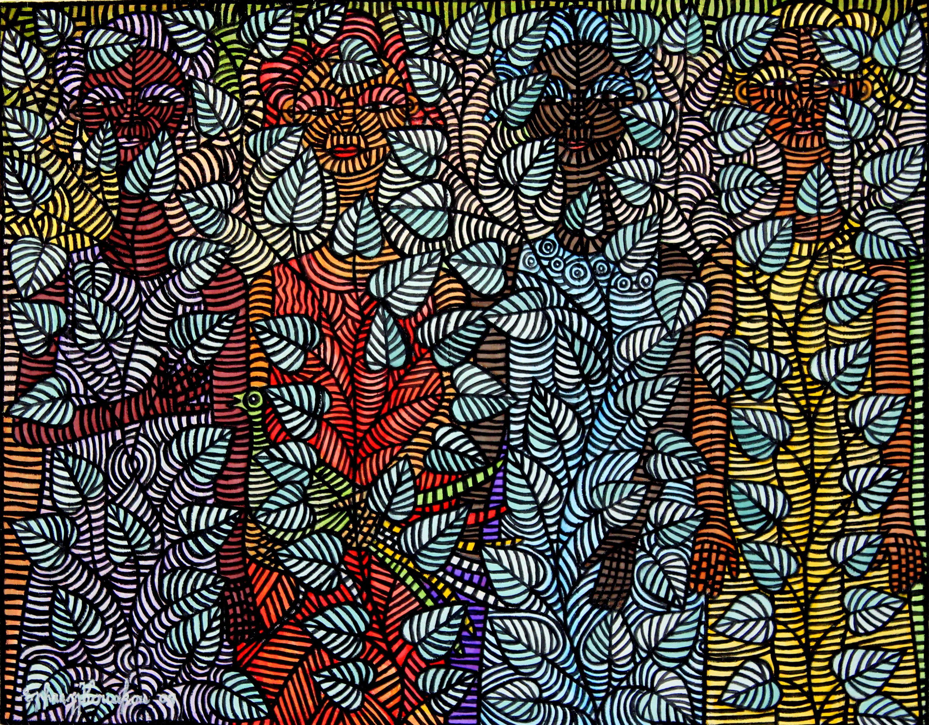 African Art  3129 X 2442, Ephrem Kouakou, Ivory Coast