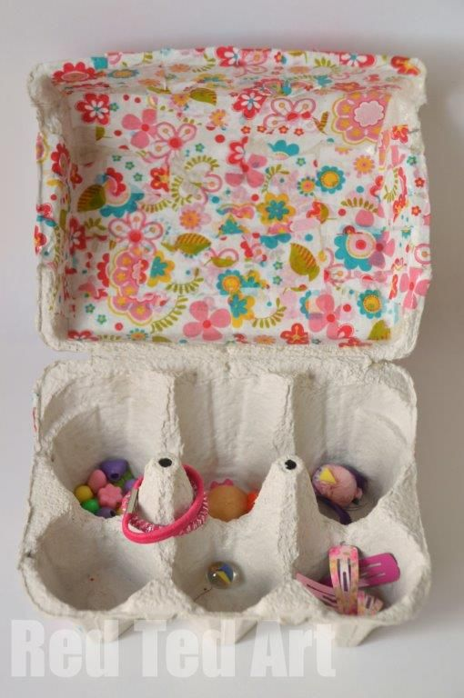 Egg carton crafts treasure box 39 for kids and eggs for Egg carton room