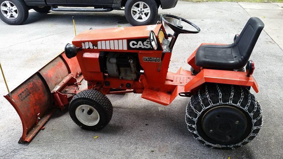 Case 224 Garden Tractor with Snow Blade Case
