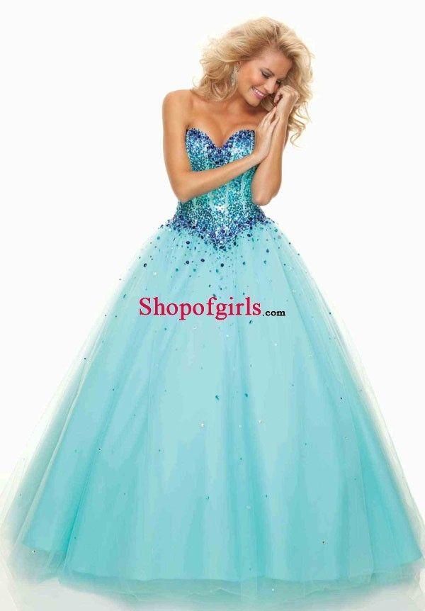 Luxurious Sweetheart Neck Sequined Rhinestones Tulle Floor-length Quinceanera Dresses QD-50463