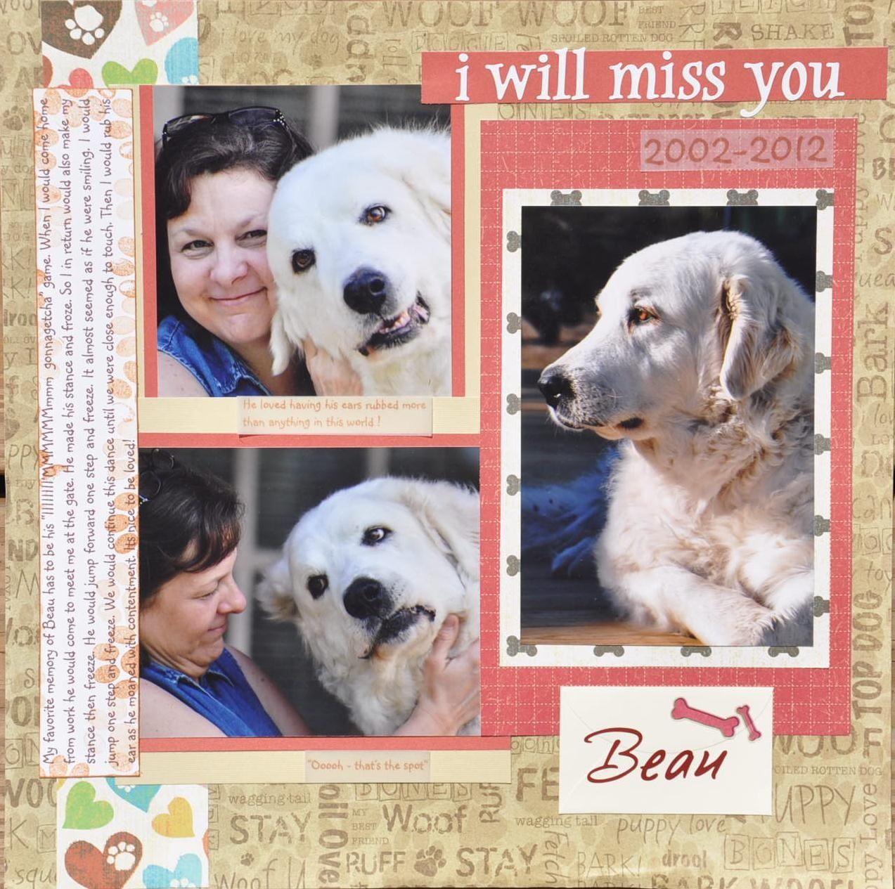 Scrapbook ideas for dogs - Beau Scrapbook Com