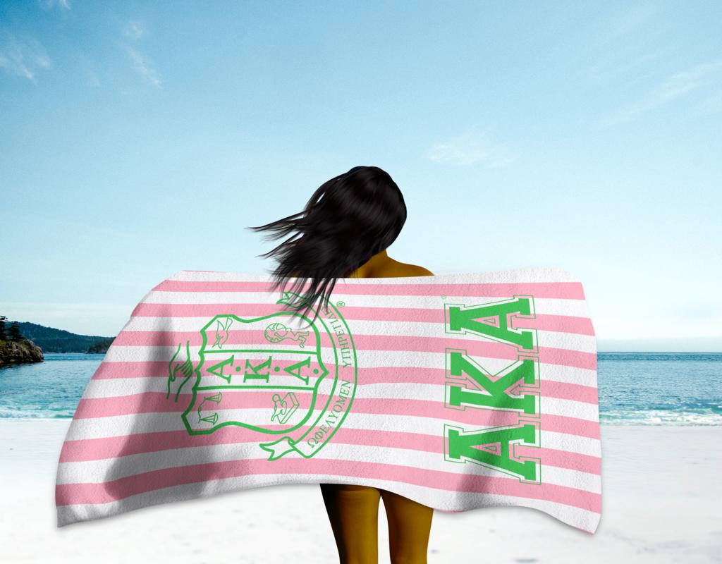 AKA Beach Towel | AKA Love Me Greek Gifts in 2019 | Alpha