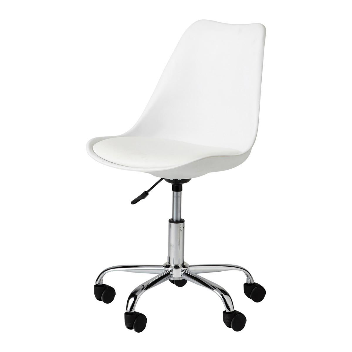 White Desk Chair With Casters Maisons Du Monde Chaise De Bureau Blanche Chaise Bureau Bureau Blanc