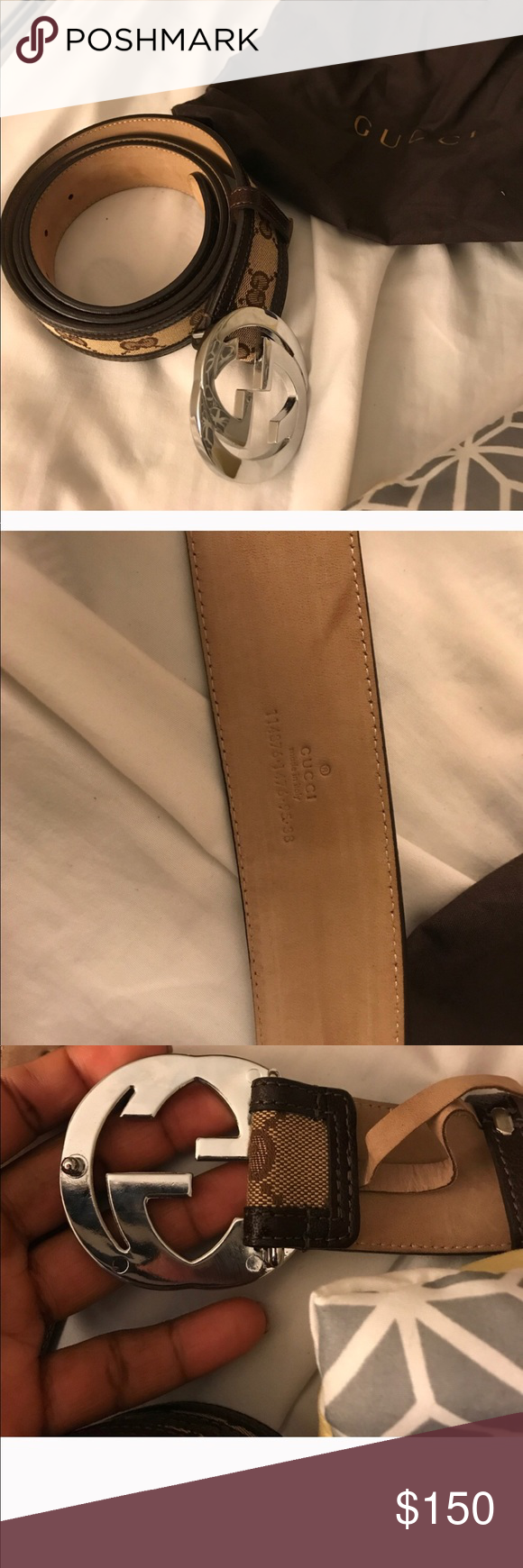 Gucci Belt Serial Number >> Gucci Belt 100 Authentic Gucci Belt Serial Number 114876 1476